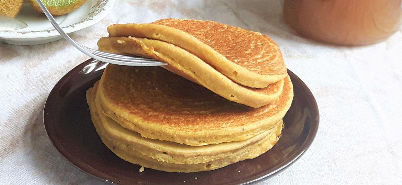 Pancakes sin gluten de plátano macho
