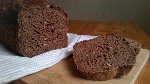 Pan sin gluten salado con cacao