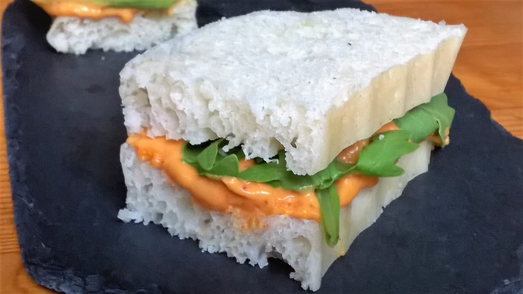 Pan de molde sin gluten al vapor