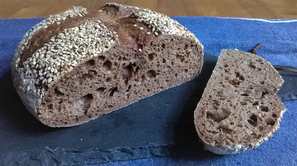 Pan con masa madre tradicional sin gluten