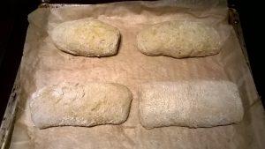 Chapata sin gluten test 1. Antes de hornear.