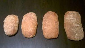 Chapata sin gluten test 1. Comparativa corteza y forma.