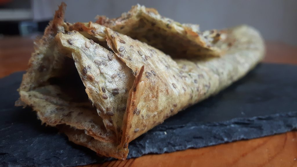Wraps sin gluten con patata y chia