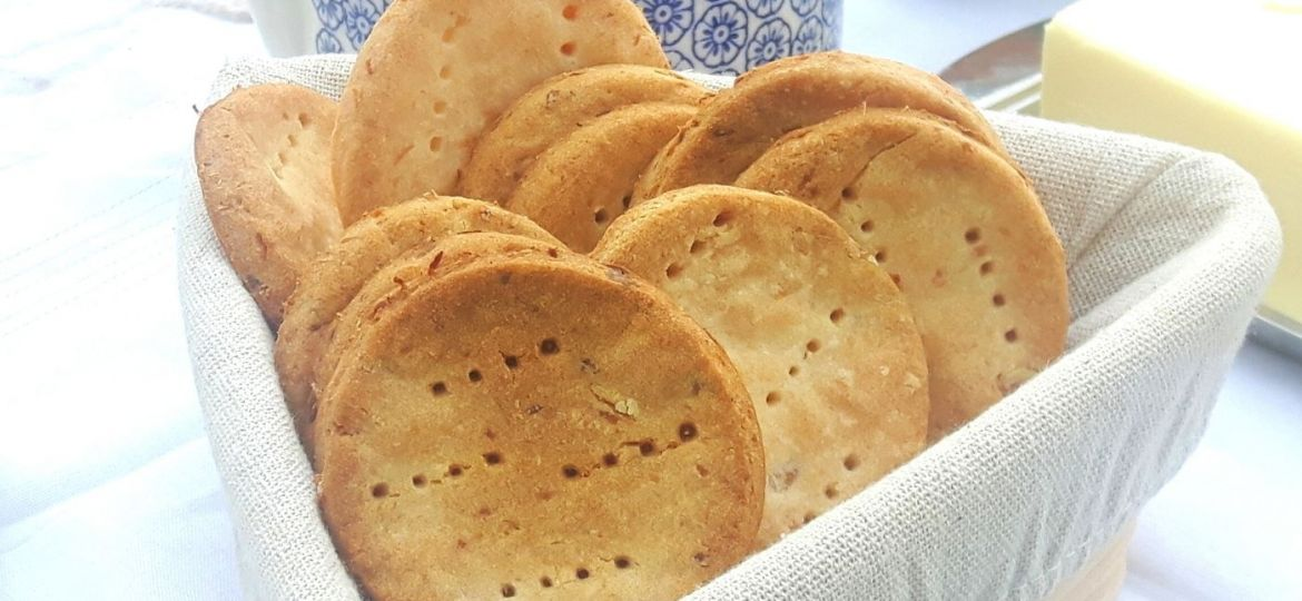 Crackers sin gluten de yuca natural