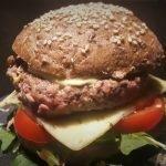 Panecillos de hamburguesa sin gluten con semilla de lino