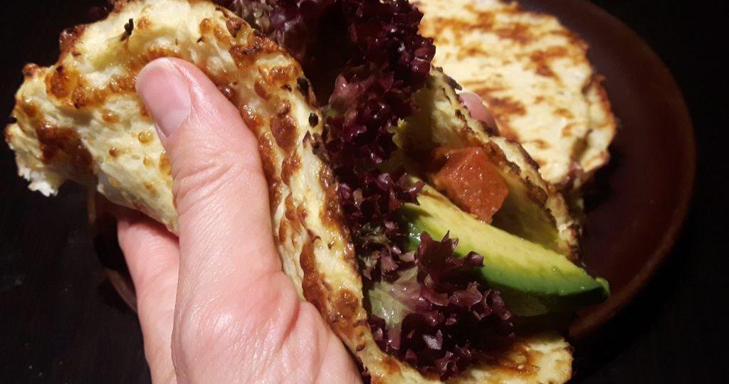 Wraps sin gluten de coliflor