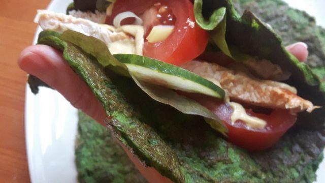 Wraps sin gluten de espinacas
