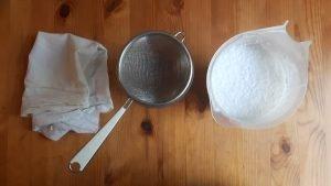 Extrae la leche de coco casera