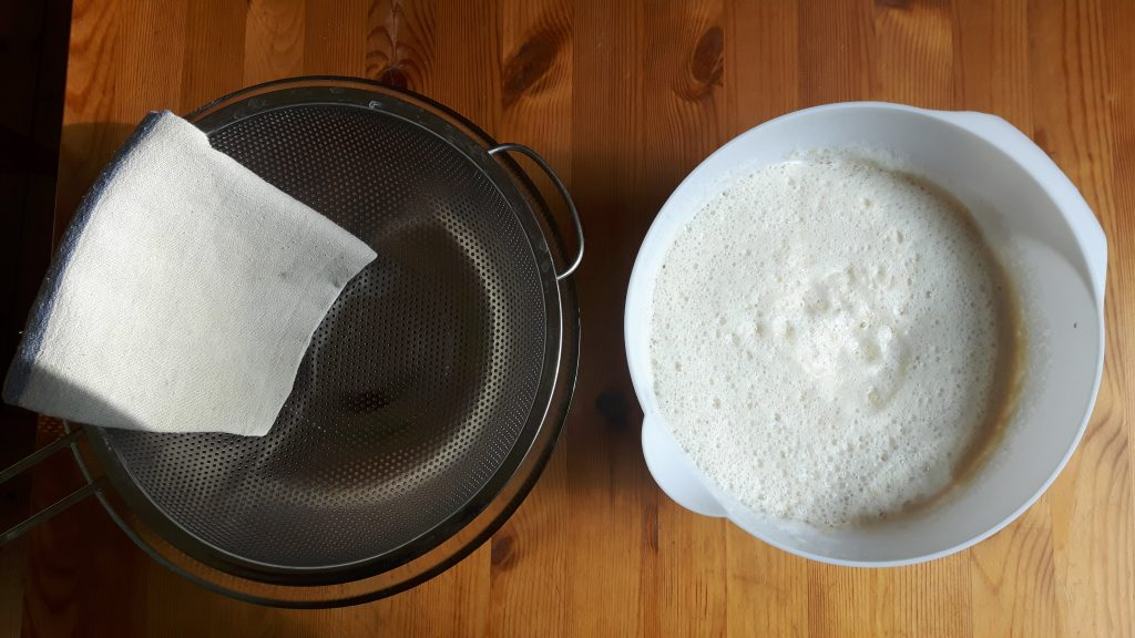 Separar fécula de patata de pulpa