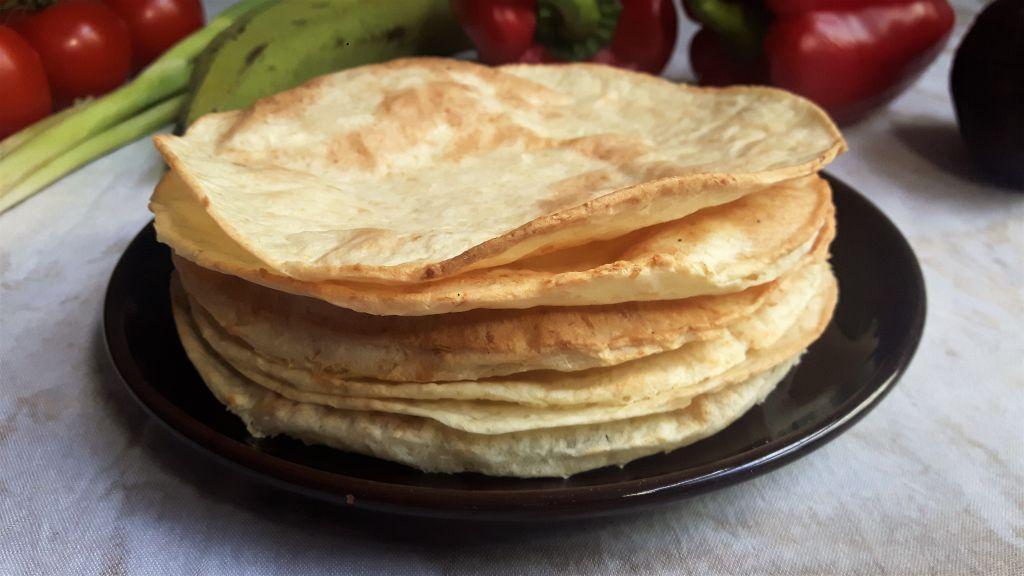 Wraps sin gluten de yuca