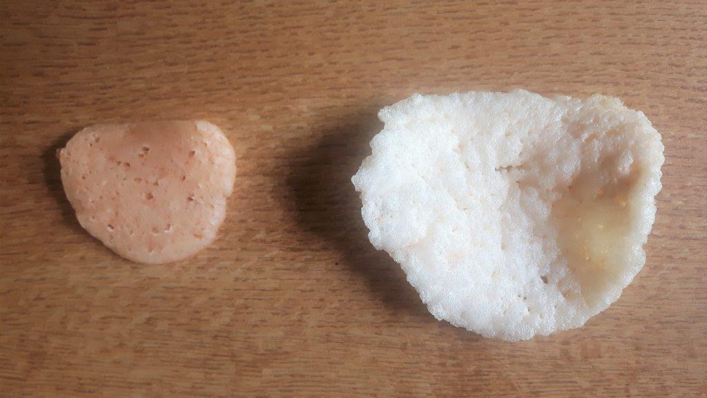 Pan de gamba antes y después
