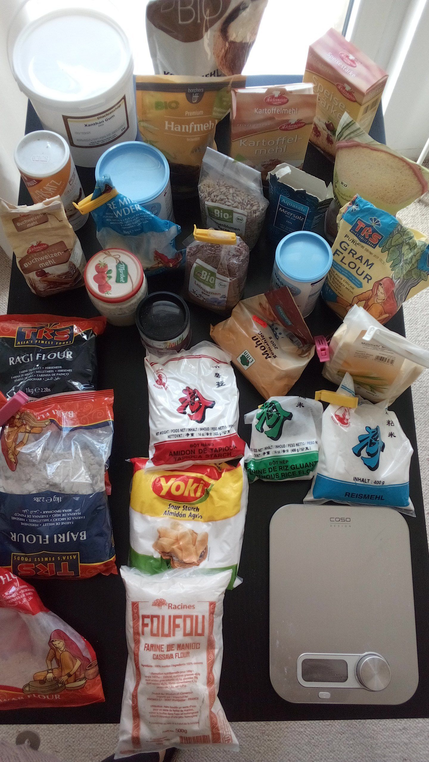 Ingredientes del pan sin gluten