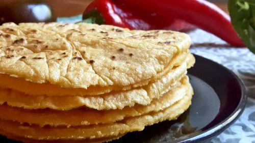 Tortillas con harina de maíz