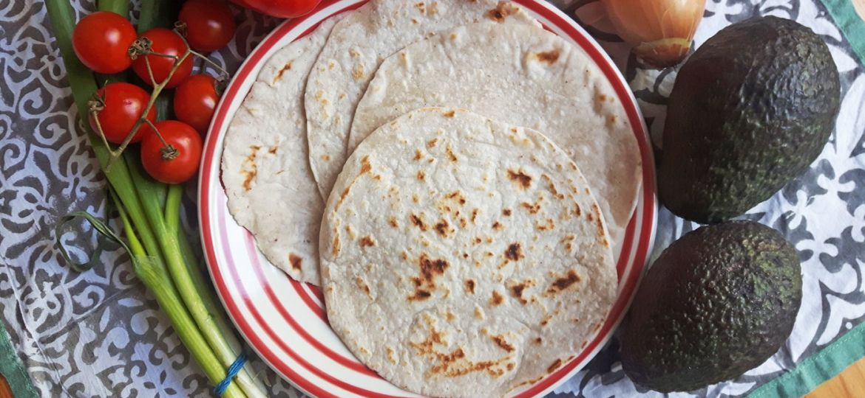 Wraps sin gluten con masa madre