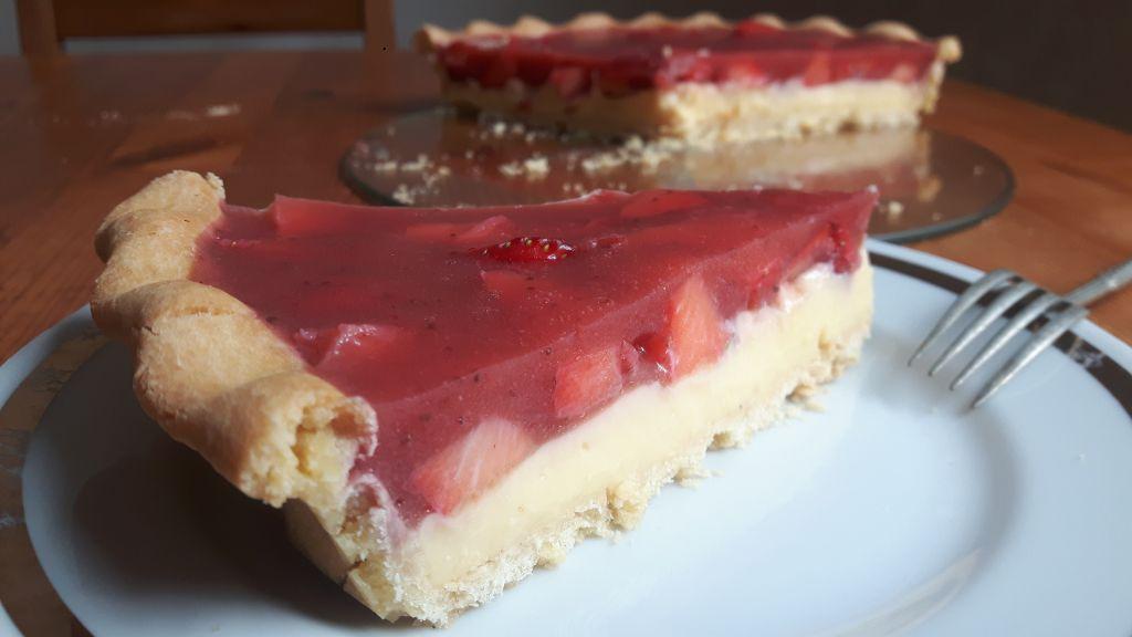 Tarta sin gluten con fresas
