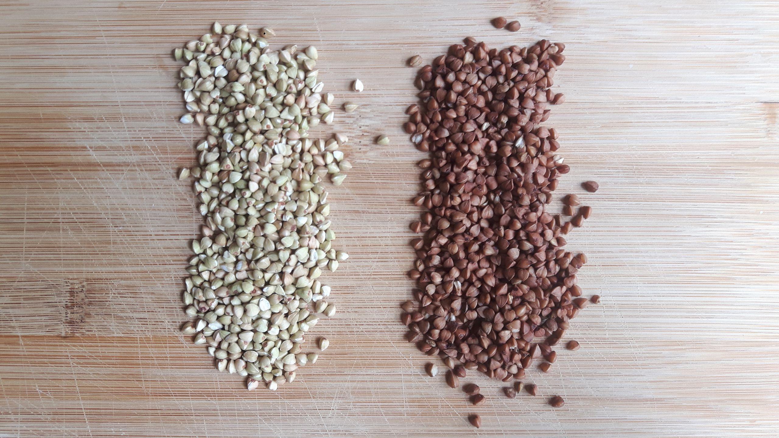Trigo sarraceno verde marrón