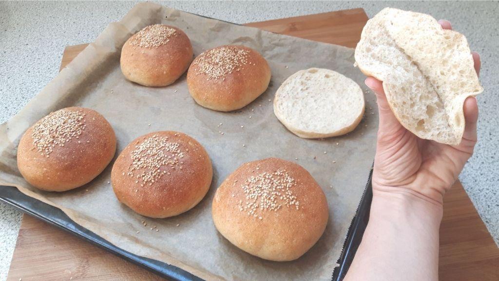 pan de hamburguesa sin gluten ni lactosa