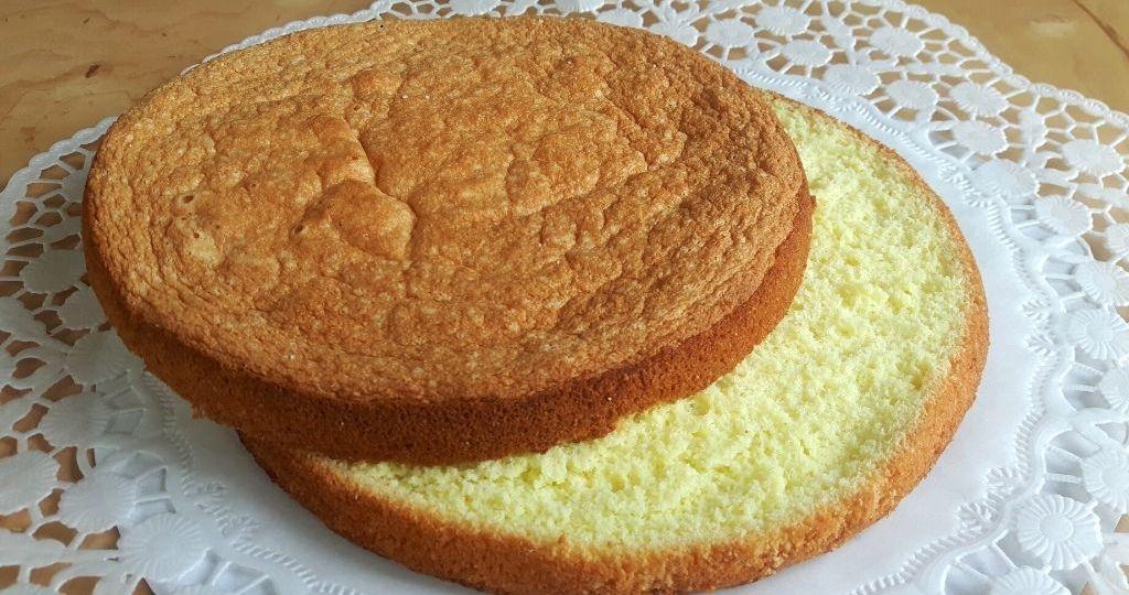 Bizcocho sin gluten para tarta