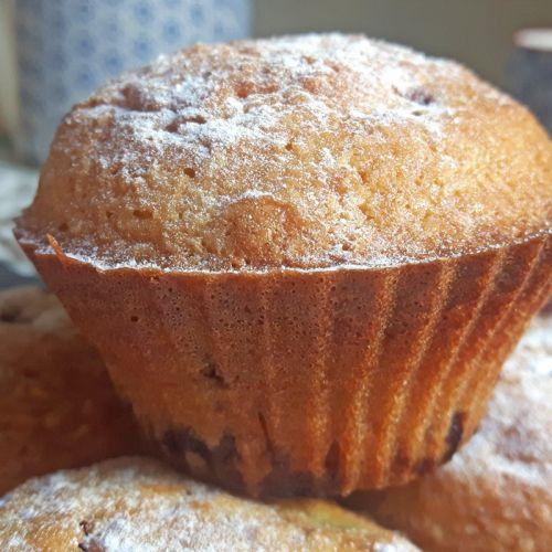 Muffins sin gluten con arándanos azules