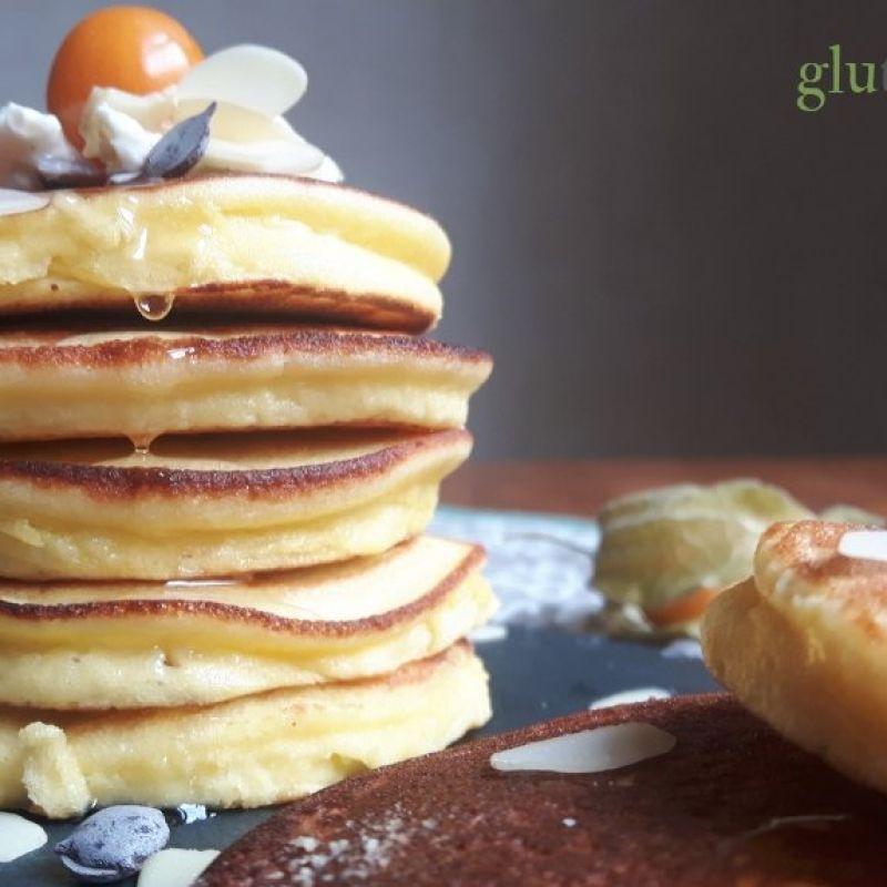Minipancakes sin gluten con harina de coco