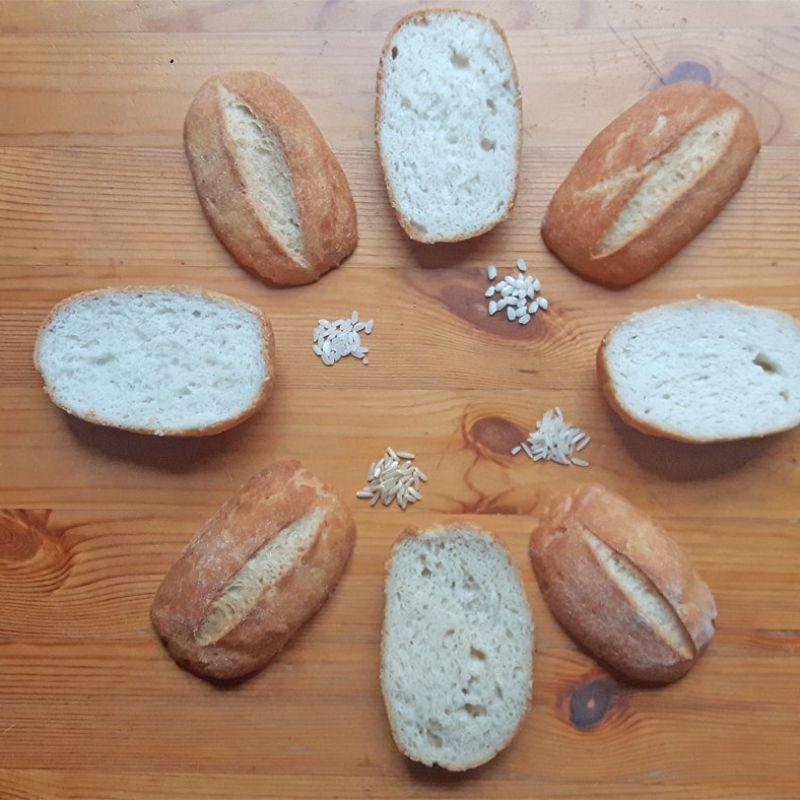 Harina de arroz y pan sin gluten